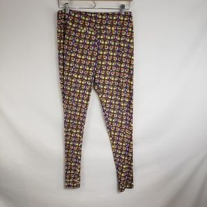 Lularoe Yellow Cubes Super Soft TC Leggings